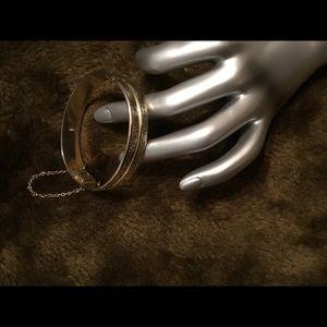 Lovely Vintage 2 Row Gold Filled Bangle Bracelet